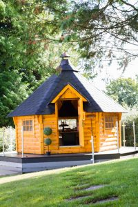 Stay in rural County Tyrone and enjoy Holiday Homes NI luxury retreat Aghaloo House which boasts this magnificent luxury BBQ hut in the garden. IMG_6917_preview